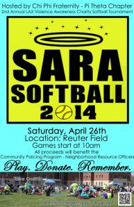 Sara Softball Flyer
