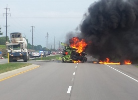 Fiery Crash in KY