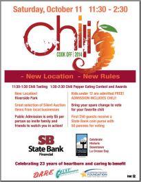 state bank financial chili cook off la crosse pd newsroom. Black Bedroom Furniture Sets. Home Design Ideas