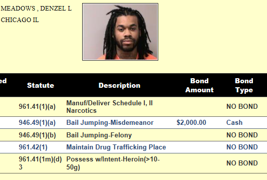 Denzel Meadows w charges